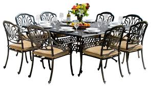 Patio Table Seats 8 Patio Dining Sets For 8 People And Photos Madlonsbigbear Com