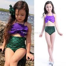 2017 baby girls mermaid swimwear set children big bow swimsuit