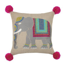 Elephant Decor For Living Room by Decor Embriodered Mumbai Elephant Pillow For Living Room