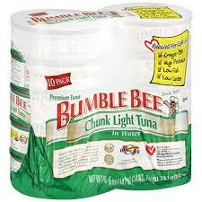 bumble bee chunk light tuna bumble bee chunk light tuna in water 5 oz can 10 ct sam s club
