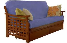 wooden futon lounger cherry manila sofabed the futon shop