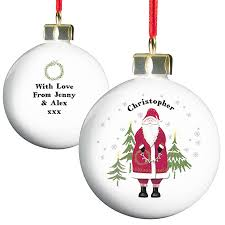 personalised father christmas bauble by hope and willow