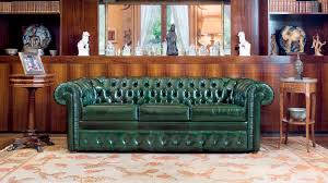 Classic Chesterfield Sofa by Chesterfield Sofa Leather 3 Seater Green Lancaster