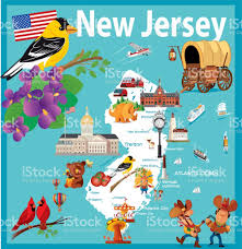 State Of New Jersey Map by Cartoon Map Of New Jersey State Stock Vector Art 803997346 Istock