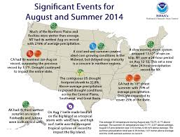 Weather Map New England by National Climate Report August 2014 State Of The Climate