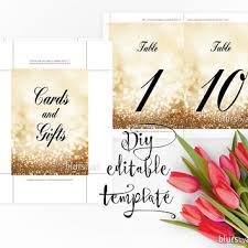 Wedding Signs Template Shop Wedding Table Numbers Gold On Wanelo