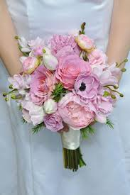 wedding flowers glasgow shop artificial lovely pink anemone and peony bridal bouquet with