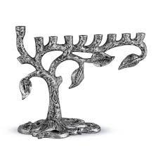 menorah tree of tree of menorah in satin silver fancy