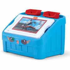 step2 thomas the tank 2 in 1 art toy box walmart com