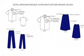 Seragam Sekolah Lengan Panjang ketentuan pakaian seragam nasional di smp negeri 6 blora smp n 6 blora