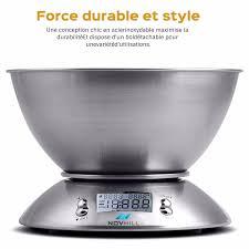 balance de cuisine electronique balance de cuisine electronique 5 kg 1g inox bol amovible ecran