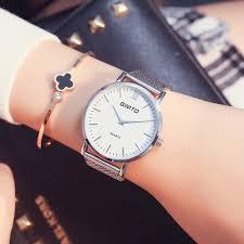 gimto brand luxury quartz women watches mesh band gold bracelet