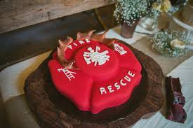 firefighter wedding cake firefighter real rustic wedding
