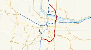 Portland Traffic Map by Interstate 205 Oregon U2013washington Wikipedia
