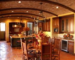 mesmerizing tuscany kitchen design with dining room and brown