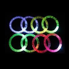 led light up toys wholesale 3pcs fashion flashing wrist band happy luminous hand ring led