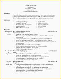Electrician Apprentice Resume Sample by 12 Construction Resume Objectives Paradochart