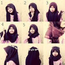 tutorial hijab segitiga paris simple kumpulan cara memakai hijab simple untuk remaja
