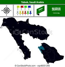 tabuk map map of tabuk saudi arabia vector map of tabuk region with
