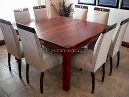 Dining Room Table Seats 8 Mid 20th Century Oak Dining Room Table With Eight Leather 9 Pc