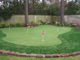 backyard putting green home outdoor decoration