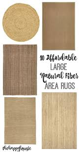 affordable natural fiber area rugs the happy housie
