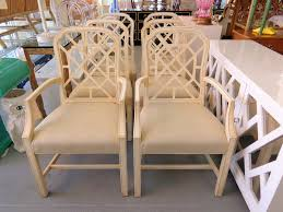 pair of vintage palm beach fretwork chairs circa who