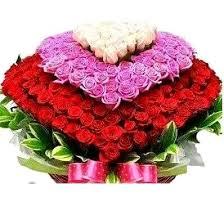 different color roses 251 mix color roses jumbo heart shape basket arrangement any 3
