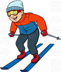 cosmopolitan clipart a man having fun while skiing cartoon clipart vector toons