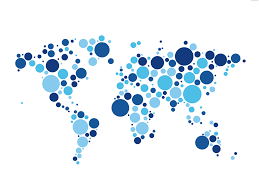 World Map Wallpaper A World Map Made By Blue Dots World Maps Pinterest