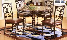 marble and metal dining table burril brown faux marble top metal dining table set shop for