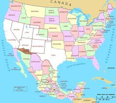 United States Map With States by Usa And Mexico Map With States Map Usa