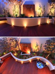 Outdoor Space Ideas Recessed Lighting On This Curved Patio And Inside The Planters