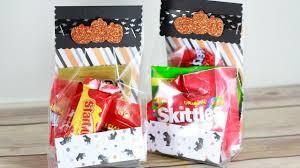 quick u0026 easy halloween treat bags youtube
