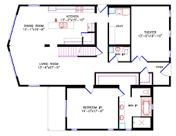 House Plans With Basement 24 X 44 Chalet