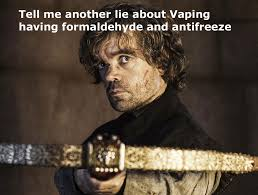 Tyrion Meme - game thrones season 4 reactions tyrion vaping meme