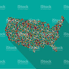 United States Map Art by Flat Design Map Of The United States Stock Vector Art 508162726