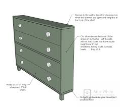 Tall Shoe Cabinet With Doors by Ana White Shoe Dresser Diy Projects