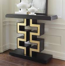 maze hollywood regency black gold leaf console table kathy kuo home