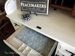 Oak Roll Top Secretary Desk by The Olde Farmhouse On Windmill Hill Desk Makeover How To Update