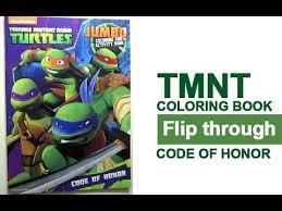 teenage mutant ninja turtles coloring book flip code