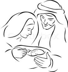 baby jesus in a manger coloring page printables pinterest