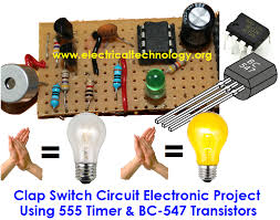 clap to turn off lights clap switch circuit electronic project using 555 timer
