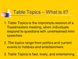 toastmasters table topics contest questions prestige toastmasters club ppt download