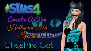 the sims 4 cas cheshire cat halloween 2016 special youtube