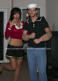 coolest homemade popeye olive oyl costumes couples