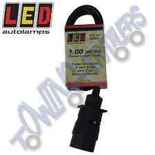 led autolamps 5c81 1m trailer connector g2 cable with 7 pin plug