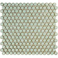 merola tile hudson penny round light green 12 in x 12 5 8 in x 5
