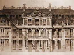 cours cuisine versailles elevation of the cour de marbre versailles the château de