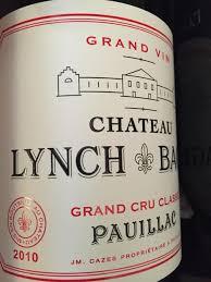 wine from château lynch bages 2010 château lynch bages bordeaux médoc pauillac